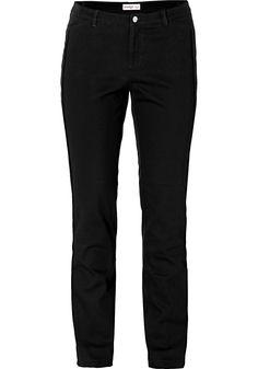 #schwarz #weiß #fashion #plussize #plussizefashion #curvyfashion #trousers #pants #fitting #sheego   Style Hose mit schmalem Schnitt