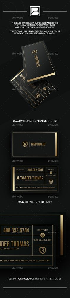 #Gold And Black #Business #Card - Retro/Vintage Business Cards