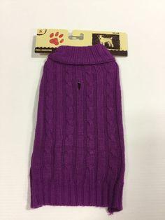 Holiday Winter Dog Purple Sweater Jacket Coat New Dog Cloths Size SM   eBay