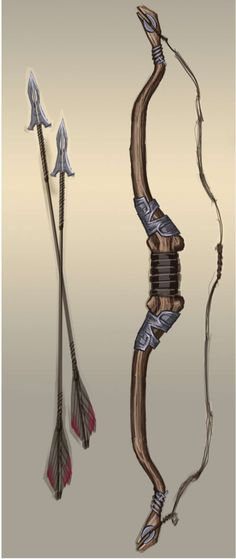 Steel Bow concept art from The Elder Scrolls V: Skyrim by Adam Adamowicz