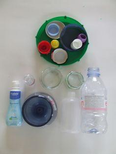 ontdekdoos doppen en deksels : doppen op flesjes schroeven