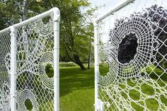 lace-like wire gate w/garden plant collection =white-flowering shrubs, perennials and bulbs that together form a lace knitting Anouk Vogel / Green Home Garden Fencing, Garden Art, Garden Ideas, Fence Design, Garden Design, White Flowering Shrubs, Garden Structures, Outdoor Rooms, Installation Art