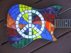 PEACE GUITAR Mosaic Guitar di racman su Etsy