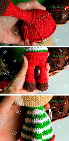 Weihnachten Hirsch Amigurumi Muster kostenlos