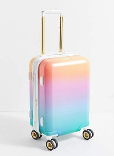 Fun Summer Essentials Cute Luggage, Carry On Luggage, Luggage Sets, Travel Luggage, Travel Bags, Girls Luggage, Cute Suitcases, Girls Suitcases, Vintage Suitcases