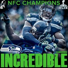 By winning the NFC Championship game, the Seattle Seahawks became the first NFL team in the last ten years to play in the Super Bowl in two consecutive years (January 2015).
