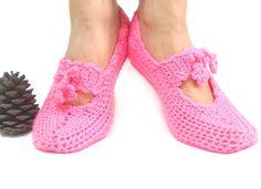 Crochet slippers Women Orange Handmade slippers by aynikki on Etsy, $25.00