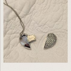 """❤️❤️❤️❤️Free with a $50 dollar bundle purchase. Beautiful heart necklace . Heart is 1 1/2"""" wide and chain is 13"""" long. When the heart is pulled apart , it is a thumb drive. Jewelry Necklaces"""