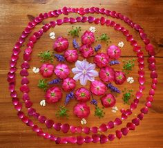 floral mandala - great project for children