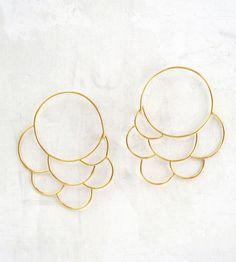 Large Cumulus Gold Hoop Earrings