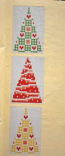 Christmas Trees in cross stitch