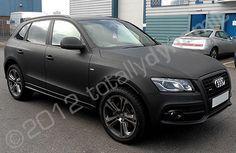 Audi Q5 matte black car wrap