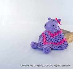 Hippo Crochet Security Blanket. $45.00, via Etsy.