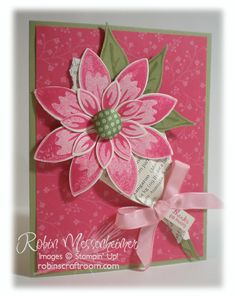 Stampin Up owl punch art. Stampin' Up!, Blossom punch Cute card :) Cute Card Great use of the stamp and punch set, Build a b. Poinsettia, Card Making Designs, Punch Art Cards, Tampons, Love Cards, Paper Cards, Creative Cards, Greeting Cards Handmade, Scrapbook Cards