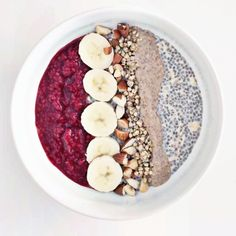 overnight chia seed/oat bowl
