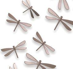 Conjunto De Libélulas En Esta Misma Página Hay Conjuntos Mariposas Blancas Metalizadas Doradas Colores