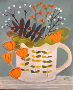 Chinese Lanterns and Orla Mug ~ Natalie Rymer