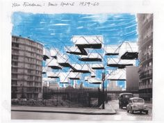 Yona Friedman (1923-) – Paris spatial (1959)