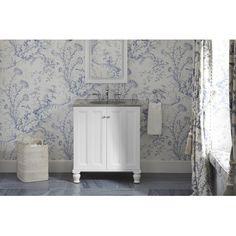 "Kohler Damask 30"" Vanity with Furniture Legs and 2 Doors"