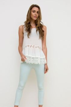 Elly M Mint Skinny Leg Denim Jeans