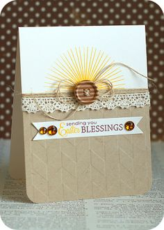 Gorgeous Easter card from Lea Lawson using WPlus9