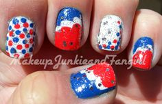 Makeup Junkie and Fangirl: 4th Of July Mani