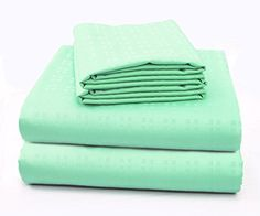 """Amazon.com: 3 Piece, Embossed Square, Deep Pocket up to 15"""", 100% Cotton - Super Soft Cottoned Sheets Set Warm Breathable Bedding (Twin-XL, Champagne): Home & Kitchen"""