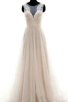 Vintage Wedding Dress,A Line Wedding Dess,Flowy Wedding Dress,Boho Wedding Dress,Tulle Wedding Dress,WS067
