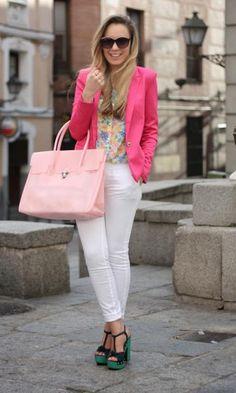 Look: Pink Blazer