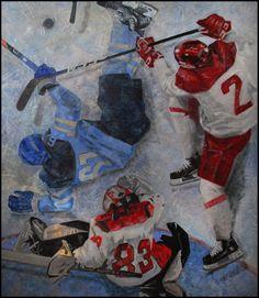 """""""Забили вместо шайбы"""" (150/130, х/м) """"Как будто мертвый, Лежит партнер твой,- И ладно, черт с ним - пускай лежит."""" В. Высоцкий #art #hockey #ice #match #оллимпиада #сборнаяхоккея #sport #россияхоккейпобеда #краснаямашина #Пхёнчхан #олимпиада2018 #нашихоккеисты #folio_art"""