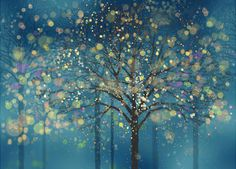 tree wallpaper blue