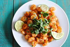 Spicy Shrimp with Cilantro and Lime