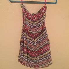 Strapless Tribal Print Romper Super lightweight, perfect for summer! No holes or snags, price negotiable! Dresses Mini