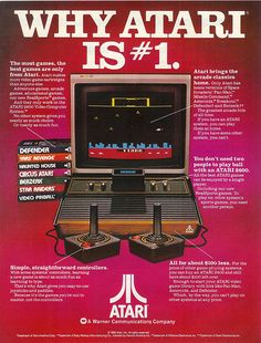 Atari videogame console  advertisement... I would love to have an old Atari or NES