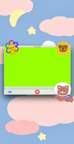 Cute Pastel Wallpaper, Cute Wallpaper Backgrounds, Cute Wallpapers, Picture Templates, Photo Collage Template, Polaroid Template, Overlays Cute, Instagram Frame Template, Cute Animal Drawings Kawaii
