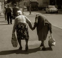 The oldest of Italian friends....this will be me and Julie ;)