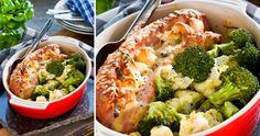 Gratinerad falukorv med lök och blomkål Gratinated fallow sausage is a classic that … Broccoli, Cauliflower, Onion, Sausage, Grilling, Vegetables, Food, Cauliflowers, Onions