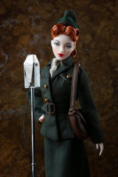 USO Doll. I bet the boy dolls love her! Watch out GI Joe!