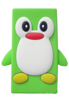HHI Silicone Skin Case for iPod Nano 7th Generation - Green Penguin
