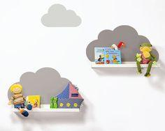 Ikea RIBBA HACK mit den Bilderleisten // Wolkenreich Aufkleber Farbe Taupe / IKEA Hack / Kinderregale / Ideale Dekoration für das Kinderzimmer passend zur Charmtroll Baby Kollektion von IKEA www.limmaland.com