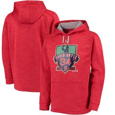 David Ortiz Boston Red Sox Majestic Retirement Logo Streak Fleece Hoodie - Red - $61.99