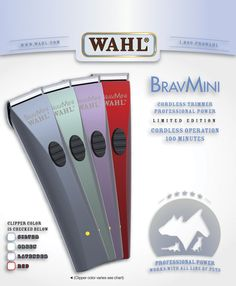 Wahl Mini Bravura Trimmer Clipper Cordless Operation Extremely Quiet Lightweight #Brand121
