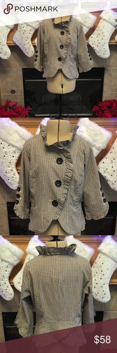 """NICK&MO-SIZE SMALL-100% COTTON NICK&MO JACKET-SIZE SMALL-ARMHOLE DISTANCE IS ABOUT 16 1/2""""-LENGTH IS ABOUT 18"""" Nick&Mo Jackets & Coats"""