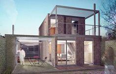 Diseño de duplex 4 metros de frente y 6 metros de largo