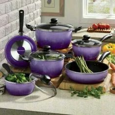 Sheila do you have purple cook ware and dishes and drinking glasses !!??? it is ok really ... lol lol OOOO ; C )