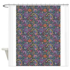 Psychedelic Paisley Shower Curtain on CafePress.com