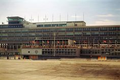 1964 Kai Tak Airport Control Tower and Observation Deck Airport Control Tower, Kai Tak Airport, Hong Kong Architecture, Urban Life, View Map, Old Photos, Deck, Airports, Towers