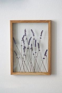 Lavender Art, Pressed Flower Frame by MyBotanica, .You can find Lavender and more on our website.Lavender Art, Pressed Flower Frame by MyBotanica, . Art Floral, Deco Floral, Dry Plants, Indoor Plants, Pressed Flower Art, Pressed Flowers Frame, Flower Frame, Flower Wall, Handmade Home
