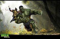 Wolverine vs Hulk . . . requested by @gothamknightreturns #wolverine #vs #hulk #theincrediblehulk #brucebanner  #logan #weaponx #jameshowlett #badass #marvel #mutant #xmen #hero #bub #adamantium #adamantiumclaws #claws #snikt #draw #drawing #sketch #art #artist #artwork #comic #comics #attitude #brutal #battle #fight