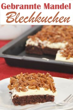 From the Gebrannte-Mandel-Kuchen. roasted almond cake from the sheet, vegan possible, the cracker on the Christmas cake buffet - Easy Smoothie Recipes, Easy Cake Recipes, Cupcake Recipes, Cookie Recipes, Food Cakes, Thermomix Desserts, Roasted Almonds, Pumpkin Spice Cupcakes, Happy Foods